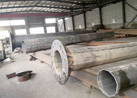 China High Power Light Post Foundation 20m 30m Hot Rolled Steel Q235 Q345 Material factory